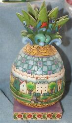 Jim Shore Pineapple Welcome All Quaint Horse And Buggy 2006 No Box