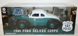 Greenlight 1/18 Scale 12972 - 1940 Ford Deluxe Coupe - New York Police Dept Nypd