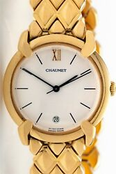 Designer FRENCH Chaumet 18k Yellow Gold PANTHER Midsize Ladies Dress Watch 134g