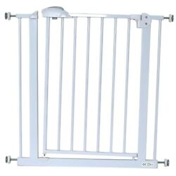 Isafe Deluxe Safety Stair Gate 90anddeg Stop Open And Auto-close Stairgate 75-85 Cm