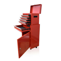 360 Us Pro Red Tool Chest Rollcab Box Roller Cabinet Ball Bearing Drawers