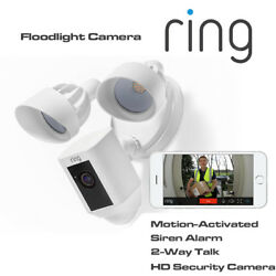 Ring Floodlight Camera Motion-activated Hd Siren Alarm And 2-way Talk Security Cam