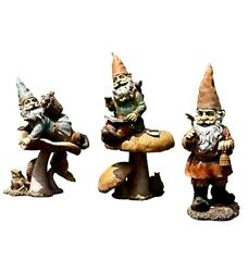 Garden Gnome Statues 3 Pc Frog Snail Butterfly 13 Inch Indoor Outdoor Yard Decor