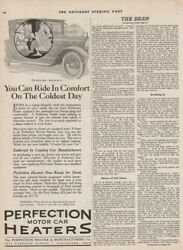 1921 Perfection Motor Car Heater Cleveland Ohio OH Antique Automotive Ad