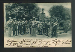 Mint Germany South West Africa Shutztruppe Army Band Picture Postcard