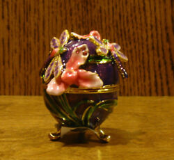 Jeweled Trinket Box J3336 Dragonfly Egg, New/box From Retail Store, Welforth