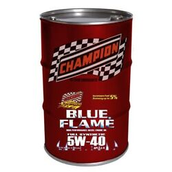 55 Gl Champion Synthetic 5w-40 Blue Flame High Performance Diesel Motor Oil Cj-4