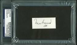 Muhammad Ali Boxing Authentic Signed 1x2.25 Cut Autographed Psa/dna Slabbed