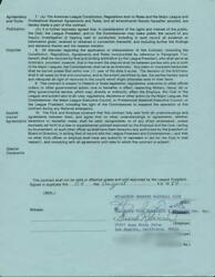 Frank Robinson Authentic Signed 1984 Brewers Coaching Contract Psa/dna X45024