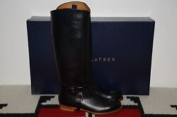 Collection Purple Label Equestrian Leather Tall Riding Boots