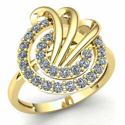3ctw Round Cut Diamond Ladies Bypass Double Halo Engagement Ring 18k Gold