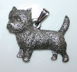 CAIRN TERRIER Dog Harris Fine Pewter Pendant USA Made