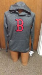 Mlb Boston Red Sox Youth Reflective Hooded Sweat Shirt Hoodie Brand New Medandxl