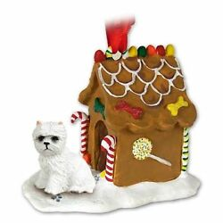WESTIE West Highland Terrier Dog Ginger Bread House Christmas ORNAMENT