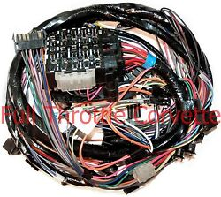 Late 1977 Corvette Wiring Harness Dash Us Made Reproduction C3 New