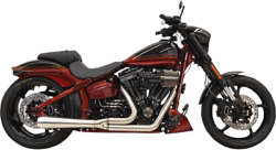 Bassani Road Rage Iii Short 2-into-1 Exhaust System Fits07-17 Fxsb/fxcw Models