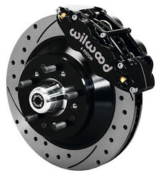 Wilwood Disc Brake Kit,front,for Wwe Prospindle,13 Drilled Rotors,black Caliper