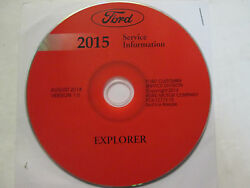 2015 Ford Explorer SUV Truck Workshop Service Shop Repair Manual ON CD NEW OEM