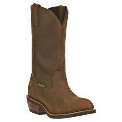 Dan Post Menand039s Steel Toe Albuquerque Work Leather Boots Dp69691 Mid Brown