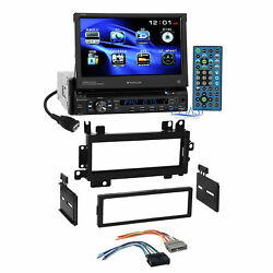 Planet Audio Flip Out DVD Stereo Single Din Dash Kit Harness for 1984-01 Dodge