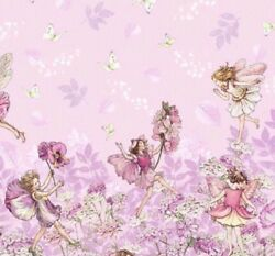 Flower Fairies PETAL FAIRY Double BORDER Pink Michael Miller Fabric By Half Yard $6.00