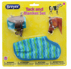 Breyer 1:12 Classic Model Horse Tack and Blanket Set Blue & Green