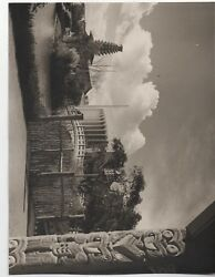 Large 1939 Ggie World's Fair Photo Of Tiki Statue And Buildings 4