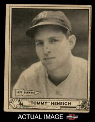 1940 Play Ball 4 Tommy Henrich Yankees 3 - Vg