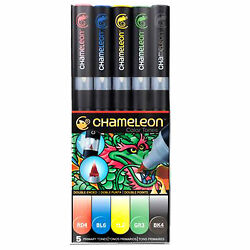 Chameleon 5 Pen Primary Tones Set CT0502 Color Tones Markers