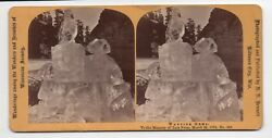 Beautiful 1872 Stereoview Of Natural Ice Sculpture In Wisconsin By Bennett