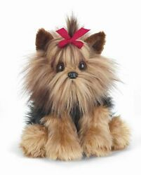 BEARINGTON Plush Toy YORKSHIRE TERRIER Stuffed Animal YORKIE PUPPY DOG Bow 13