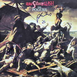 The Pogues signed record lot by all 6 Shane MacGowan!! Rum Sodomy