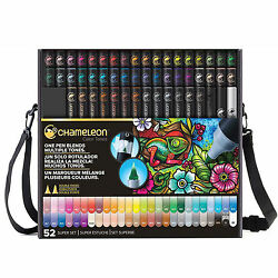 Chameleon Color Tones Markers Complete Set of 52 in Case CT5201