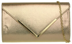Shimmer Oversized Faux Leather Clutch Bag Glitter Frame Luxury Evening Party