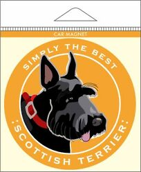 Scottish Terrier Car Magnet 4x4