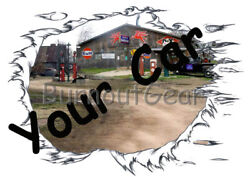 CUSTOM MADE T-Shirt with YOUR CAR & Garage Background Set Up Muscle Car Tees