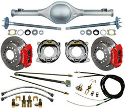 Currie 55-59 Chevy 5-lug Truck Rear End And Wilwood Disc Brakesred Caliperslines