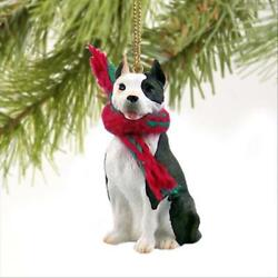 Pit Bull Terrier Brindle Dog Tiny One Miniature Christmas Holiday ORNAMENT