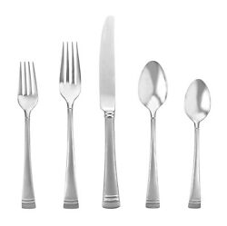 Federal Platinum Shiny Lenox 40 Piece Service For Of 8 Stainless Flatware Set