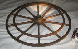 Antique Country Hospital Wood Wheel Chair Cast Iron Rack Wall Mount Chandelier