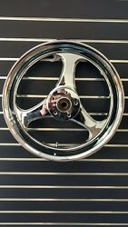 For Harley Turbo Chrome Forged Cnc Aluminum Alloy Wheel 16 X 3.5 2000+ Softtail