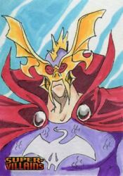 Cryptozoic Dc Comics Super Villains Sketch Card By Tracy Bailey