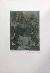 Jose Luis Cuevas Unknown Title 1999   Rare Signed Etching   Make An Offer