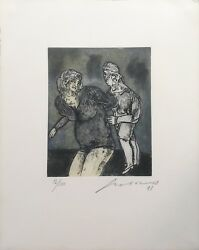 Jose Luis Cuevas Unknown Title 1998   Signed Etching   Others Avail   Gallart