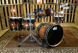 DW Collector's Series Exotic Natural to Quick Candy Black Burst Over Tiger Wood
