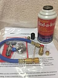 R12 Auto AC Refrigerant 12 RECHARGE KIT 14 oz Hose Taper  With DYTEL