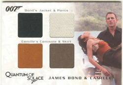 James Bond Archives 2009 Relic / Costume Card Qc27 Bond And Camille