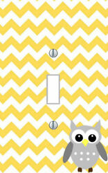 Owl - LIGHT SWITCH PLATE COVER - OWLS Pick Your Colors - Whimsical Home Decor