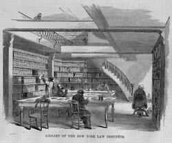 LIBRARY OF THE NEW YORK LAW INSTITUTE FREE TO THE COURTS AND PUBLIC OFFICERS