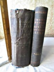 3 Vol.in 2, REPORTS,U.S. & MEXICO BOUNDARY SURVEY,1857-1859,EMORY,1stED.,Illust.